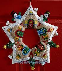 100 seasonal home decorations bucilla seasonal felt bucilla gingerbread wreath felt christmas home decor kit 86677