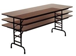 costco folding table adjustable height adjustable height folding table costco home design ideas