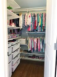simply done organized shared girls closet with elfa simply