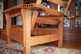 Fine Woodworking Plans Pdf by Bow Arm Morris Chair Handmade By Hickey