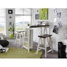 küche bartisch bartisch mit 2 hocker florida weiß braun de küche