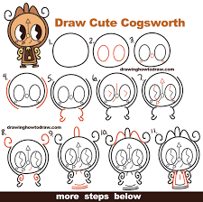 how to draw thanksgiving how to draw cute kawaii chibi cogsworth the clock from beauty and