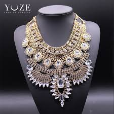 big crystal statement necklace images New 2016 fashion big necklace women heavy metal chain crystal jpg