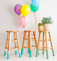 Color Up Diy Basics 3 Ways To Make Color Dipped Bar Stools Brit Co