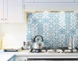 Wallpaper For Kitchen Backsplash by Vinyl Backsplash Etsy