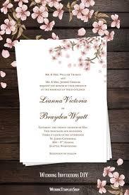 Cherry Blossom Wedding Invitations Wedding Invitations Templates Printable For All Budgets Wedding