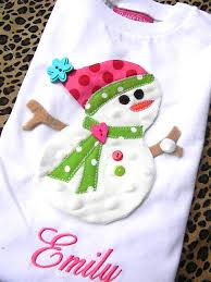 personalized plush tiered snowman appliqued christmas shirt by