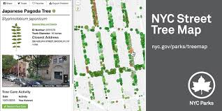 nyc tree map nyc parks