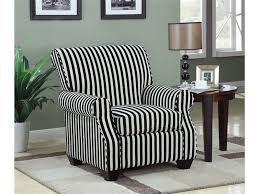 Black And White Accent Chair And White Stripe Fabric Accent Chair By Coaster 902085
