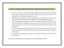medical assistant cover letter examples cover letter database