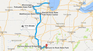 Matthiessen State Park Trail Map by See 10 Natural Wonders Of Illinois On This Nature Road Trip