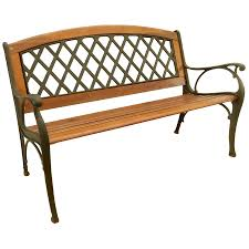 Wooden Patio Bench by Shop Garden Treasures 25 In W X 50 In L Wood Patio Bench At Lowes Com