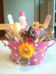 spa basket ideas thank you gift for coworker jamberry nails