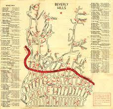 vintage map of beverly hills star homes vintage beverly hills