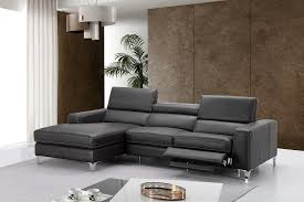 left facing chaise sectional sofa ariana italian leather sectional leather reclining sectional sofa