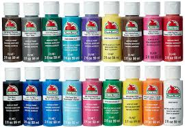 amazon com apple barrel acrylic paint set 18 piece 2 ounce