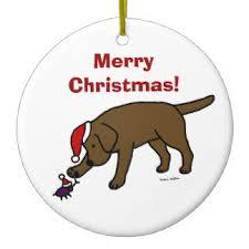 funny chocolate labrador christmas tree decorations u0026 baubles