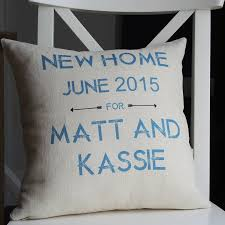personalised new home cushion by the alphabet gift shop