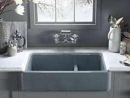 Kohler Bathroom Sink Colors - k 6427 whitehaven self trimming smart divide 35 11 16