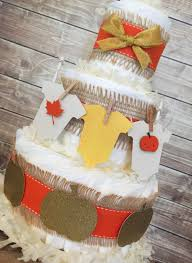 fall themed diaper cake fall baby shower centerpiece autumn