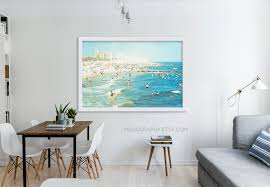 Livingroom Art Large Scale Print Living Room Decor Oversized Beach