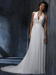 high neck halter wedding dress chiffon v neck halter a line wedding dress with open back wm