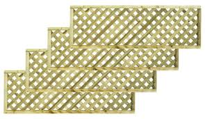 woodbury timber square trellis panel h 1 8m w 0 3 m pack of 5