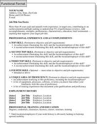 List Of Job Skills For A Resume by Functional Resume Format Focusing On Skills And Experience Dummies