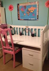 Raising A Desk Ideas To Repurpose U0026 Upcycle Used Baby Cribs Desks Storage And