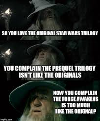 Star Wars Love Meme - star wars fan boys inconsistent complaints imgflip