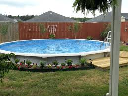 backyard pool landscaping above ground pool landscaping ideas stylid homes