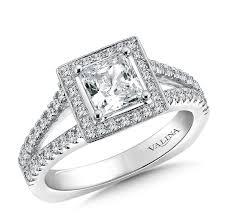 princess cut halo engagement ring shira diamonds split shank halo engagement ring princess cut