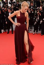 blake lively is elegantly in thigh split dress as grace of