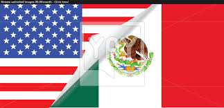 united states and mexico flags combined vector yayimages com