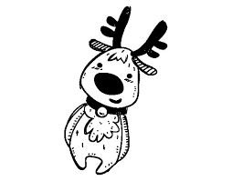 teddy christmas reindeer coloring page coloringcrew com
