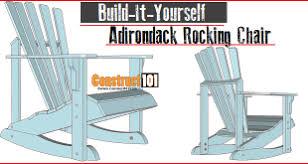 Build An Adirondack Chair Chair Plans