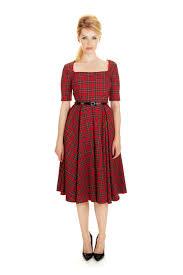 pretty dress gigi tartan swing dress the pretty dress company vintage and