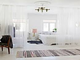 Curtain Room Divider Ideas by Home Design Glass Bedroom Wall Partition With White Curtain