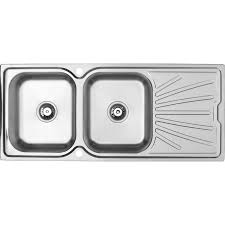 Stainless Steel Double Bowl Kitchen Sink  Drainer  X Mm - Kitchen sink double bowl double drainer