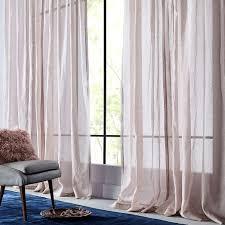 Grey Metallic Curtains Sheer Metallic Printed Curtain Dusty Blush West Elm