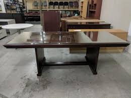 Glass Top Conference Table Ft Rectangular Walnut Conference Table With Glass Top