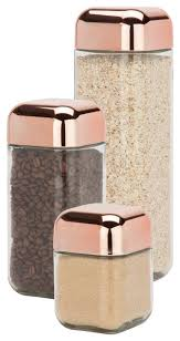kitchen canisters and jars 3 square storage jar set contemporary kitchen canisters