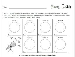 10 best images of moon phases worksheet for kids printables moon