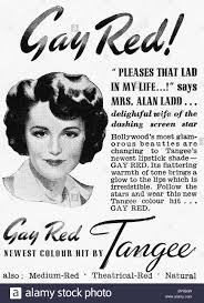 1940s advertisement for tangee hair colouring in women u0027s home