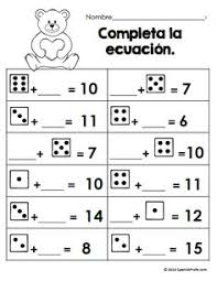 free math worksheets for february bilingual matematicas hojas