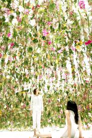 colorful flower gardens teamlab immerses visitors in an interactive floating flower garden