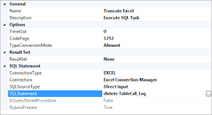 sql server ssis truncate excel destination stack overflow