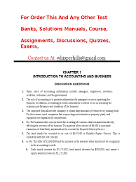 test bank accouting 26th edition solution expense balance sheet