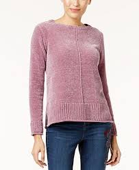 chenille sweater style co crew neck chenille sweater created for macy s