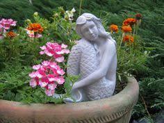 Cement Garden Decor Rock Face Happy Garden Face Forest Spirit Concrete Garden
